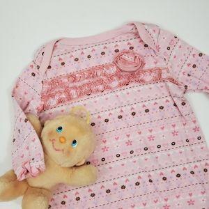 Babies R Us Pink Print Sleep Gown Size 3m